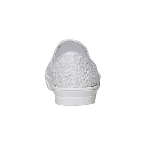 Sneakers Plimsoll da donna con pizzo bata, bianco, 549-1132 - 17