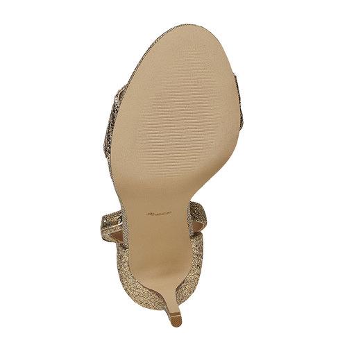sandali metalizzati con tacco insolia, oro, 769-8275 - 26