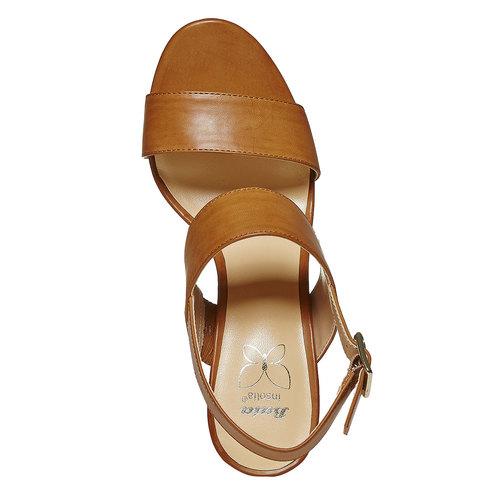 Sandali da donna con plateau insolia, marrone, 761-4727 - 19