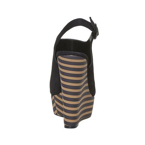 Sandali con zeppa insolia, nero, 769-6563 - 17