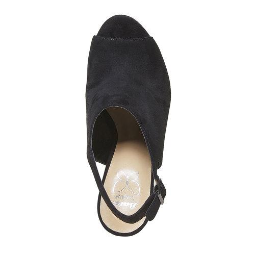 Sandali con zeppa insolia, nero, 769-6563 - 19