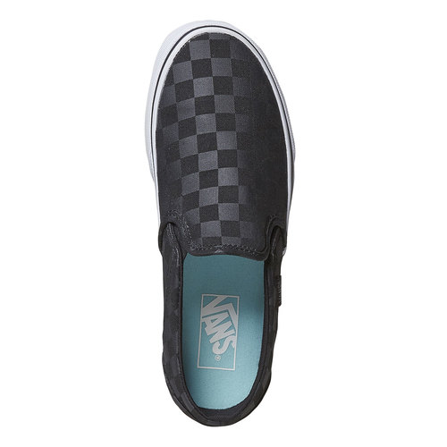 Slip-on da donna con motivo vans, nero, 589-6288 - 19
