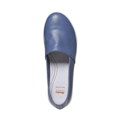 Slip-on in pelle da donna flexible, 514-0270 - 19