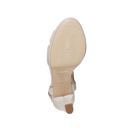 Sandali di pelle con tacco bata, beige, 764-8587 - 26