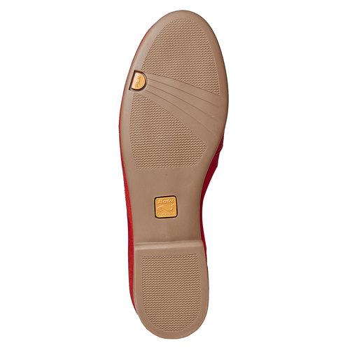 Mocassini in pelle da donna con lacci flexible, rosso, 516-5276 - 26