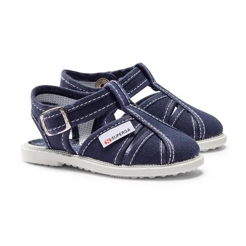 Sandali da bambino con cuciture superga, blu, 169-9142 - 26