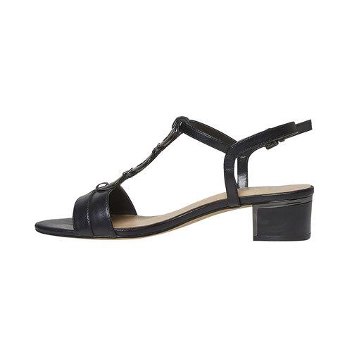 Sandali da donna con applicazioni decorative bata, nero, 661-6249 - 26