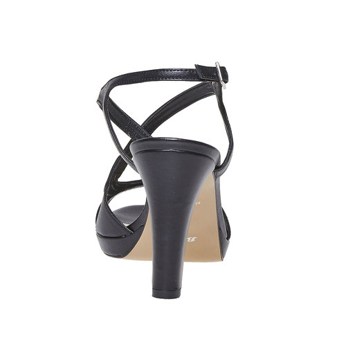 Sandali da donna in pelle bata, nero, 764-6587 - 17