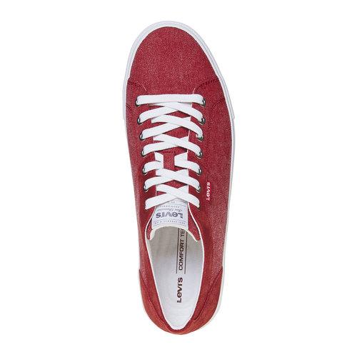 Sneakers rosse da uomo levis, rosso, 849-5513 - 19