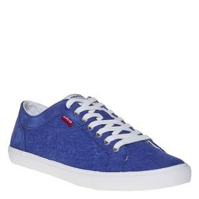 Sneakers da uomo con cuciture levis, blu, 849-9513 - 13