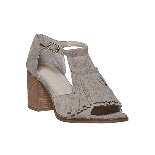Sandali da donna con frange bata, grigio, 763-8519 - 13