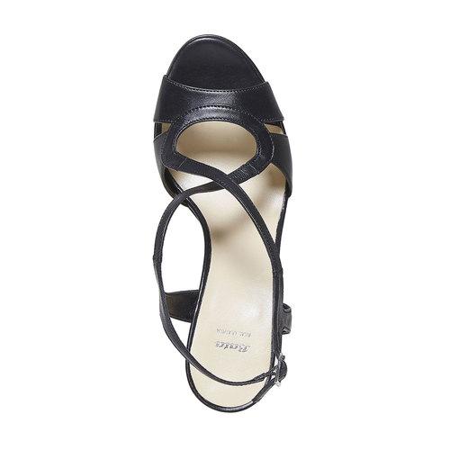 Sandali da donna in pelle bata, nero, 764-6587 - 19