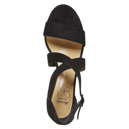 Sandali neri da donna insolia, nero, 769-6213 - 19