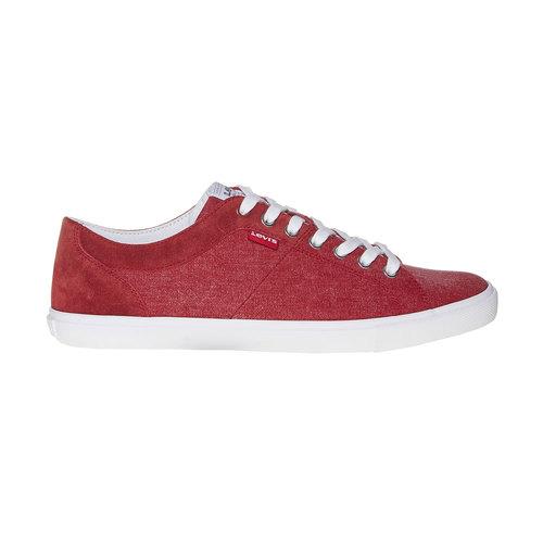 Sneakers rosse da uomo levis, rosso, 849-5513 - 15