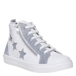 Sneakers da ragazza sopra la caviglia north-star, bianco, 324-1278 - 13