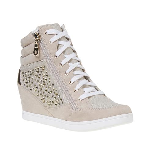 Sneakers con tacco a zeppa north-star, bianco, 729-1670 - 13