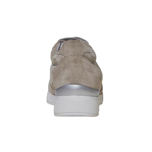 Sneakers in pelle da donna flexible, grigio, 529-2586 - 17