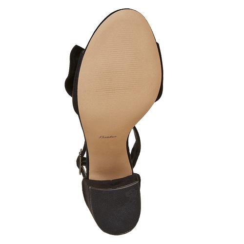 Sandali con fiocco sul tallone insolia, nero, 769-6253 - 26