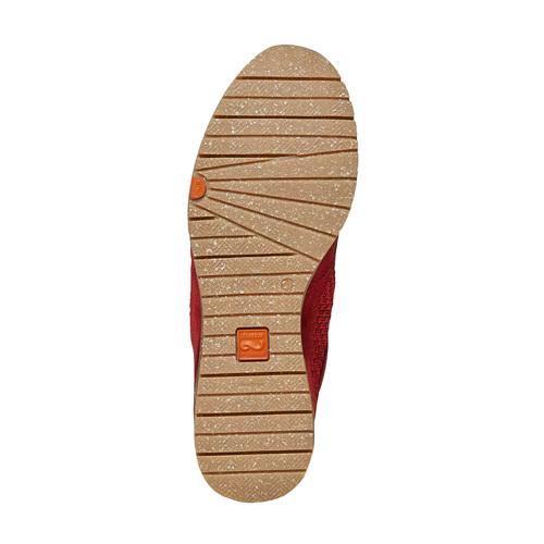 Sneakers rosse in pelle flexible, rosso, 529-5586 - 26