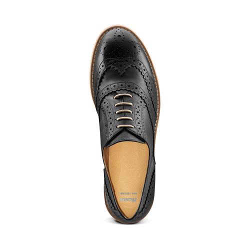 Scarpe basse da donna Oxford in pelle bata, nero, 524-6482 - 17