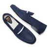 Mocassini in pelle flexible, blu, 853-9172 - 26