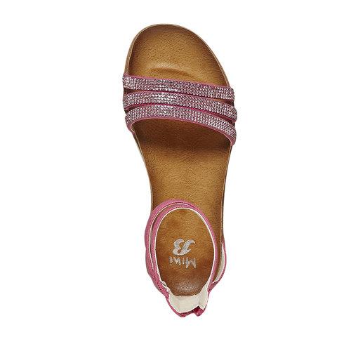 Sandali da ragazza con strass mini-b, rosso, 361-5196 - 19