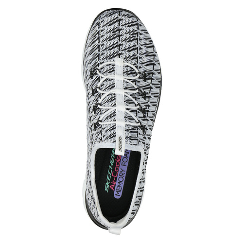 Sneakers da donna con motivo skechers, bianco, 509-1967 - 19