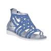 Sandali blu da ragazza con strass mini-b, blu, 363-9216 - 13