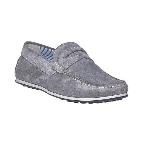 Sandali in pelle con cuciture appariscenti bata, grigio, 853-2272 - 13