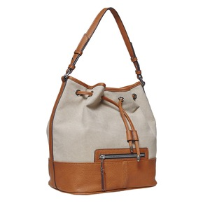 Borsetta da donna in stile Bucket Bag bata, marrone, 969-8332 - 13