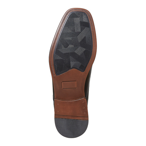 Scarpe basse nere in pelle, nero, 824-6454 - 26