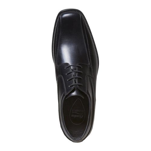 Scarpe basse nere in pelle, nero, 824-6454 - 19
