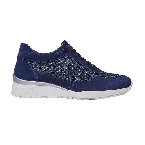 Sneakers casual da donna flexible, blu, 529-9586 - 15