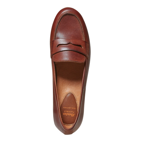 Penny Loafer di pelle flexible, marrone, 514-4280 - 19