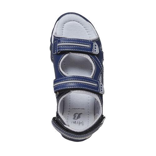 Sandali da bambino con chiusura a velcro mini-b, blu, 361-9221 - 19