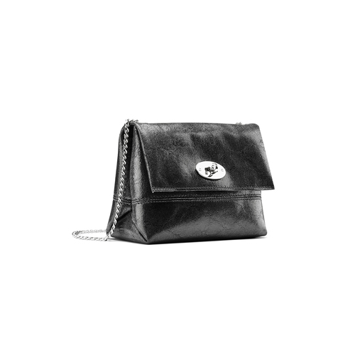 Mini-bag in pelle nera bata, nero, 964-6239 - 13