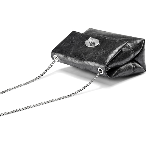 Mini-bag in pelle nera bata, nero, 964-6239 - 17