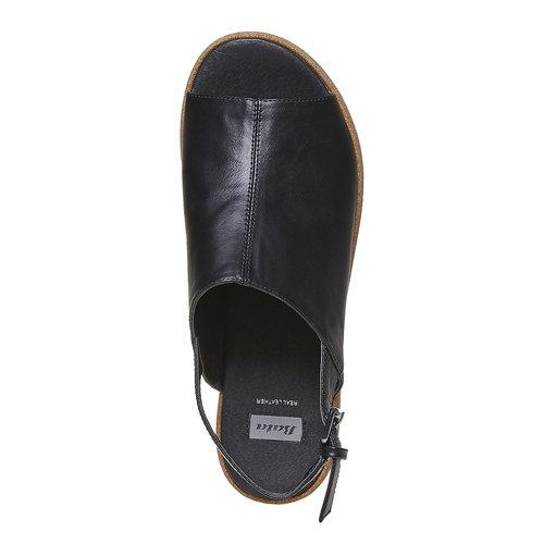 Sandali neri da donna bata, nero, 661-6241 - 19