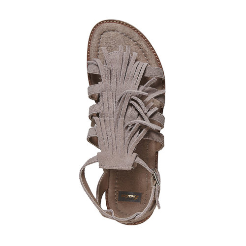 Sandali in pelle con frange bata, 563-2442 - 19