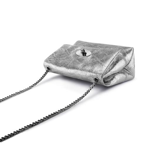 Minibag in pelle bata, argento, 964-1239 - 17