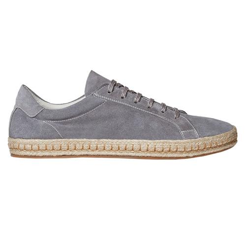 Sneakers in pelle con suola in iuta bata, grigio, 853-2317 - 15