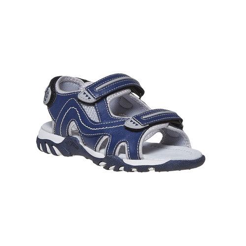 Sandali da bambino con chiusura a velcro mini-b, blu, 361-9221 - 13