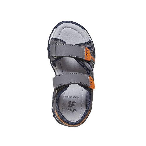 Sandali da bambino con chiusura a velcro mini-b, grigio, 261-2193 - 19