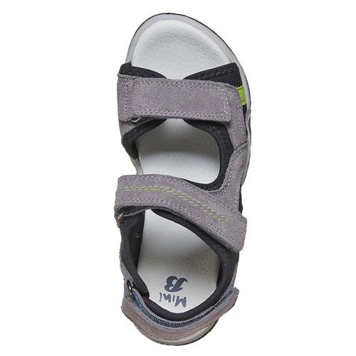 Sandali in pelle da bambino mini-b, grigio, 363-2198 - 19
