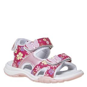 Sandali da bambina con motivo floreale mini-b, rosso, 261-5192 - 13