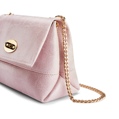 Minibag in vera pelle bata, rosa, 964-0239 - 15