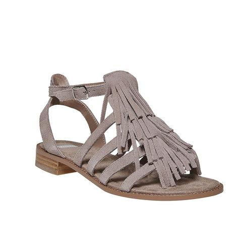 Sandali in pelle con frange bata, 563-2442 - 13