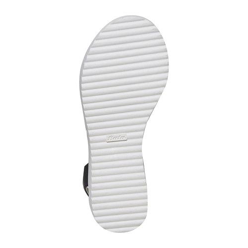 Sandali da ragazza con suola appariscente mini-b, nero, 361-6194 - 26