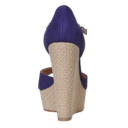 Sandali da donna con plateau naturale insolia, viola, 769-9645 - 17