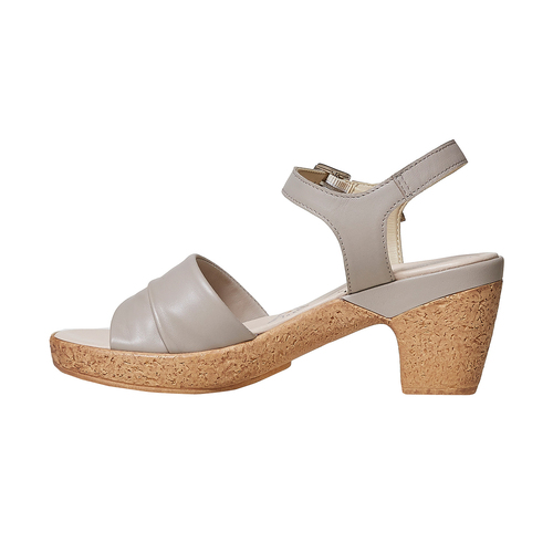 Sandali da donna con tacco naturale bata-touch-me, grigio, 664-2231 - 26